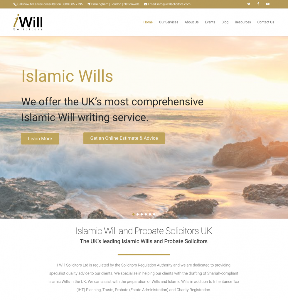 I Will Solicitors Homepage